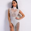 Fringe Tassel Bodysuit Dress