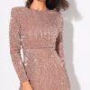 sequin champagne body con dress (3)
