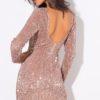 sequin champagne body con dress (4)