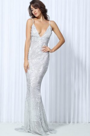 silver sequin gown (4)