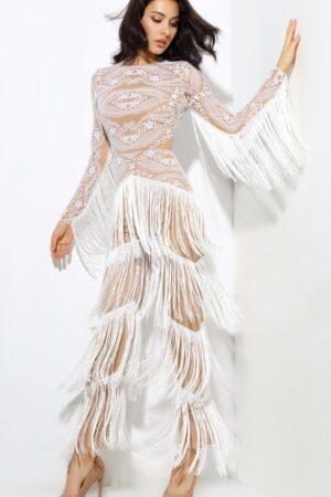 white fringe jumpsuit (6)