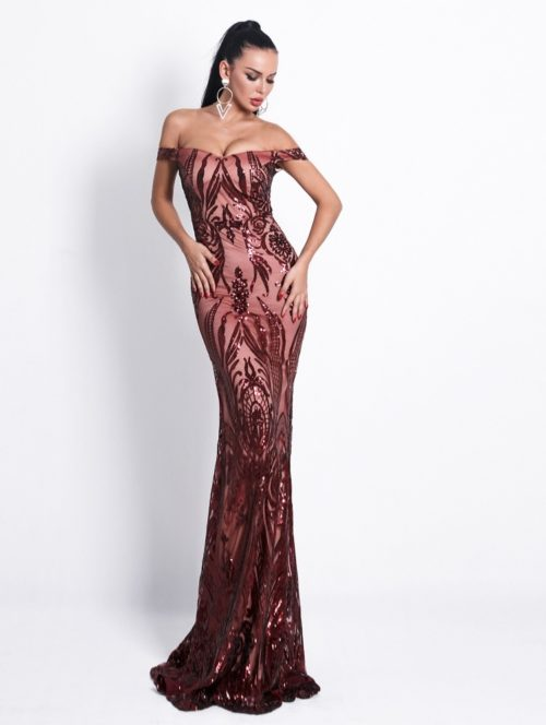 Amber Sequin Gown 2