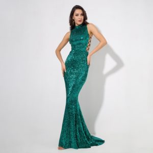 Catherine Green Sequin Dress