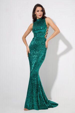 Catherine Green Sequin Dress