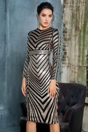 Chelsea Geometric sequin dress A