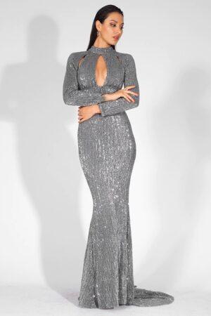 Kanika Grey Evening Dress