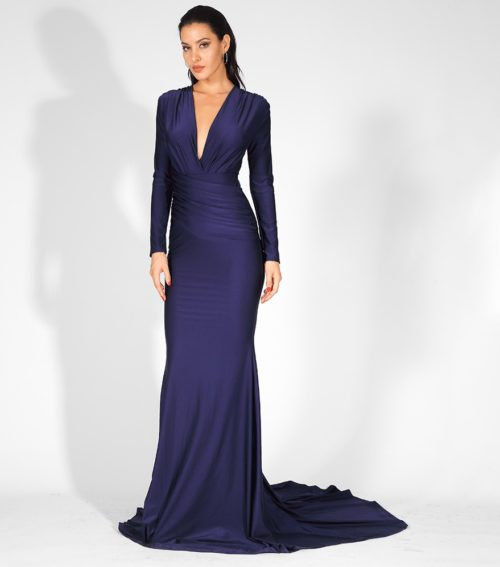 Lily Blue evening gown 3