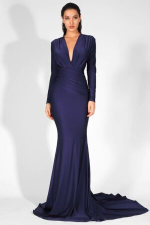 Lily Blue evening gown
