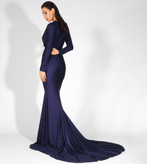 Lily Blue evening gown 5
