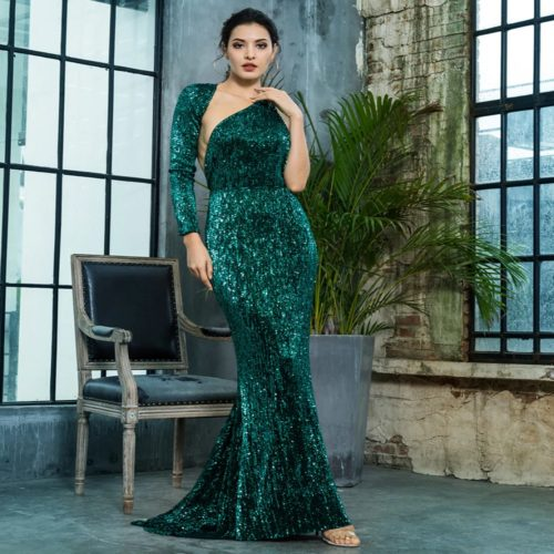 Paloma Green Sequin Gown
