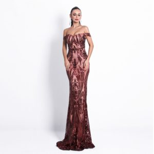 amber sequin gown 3