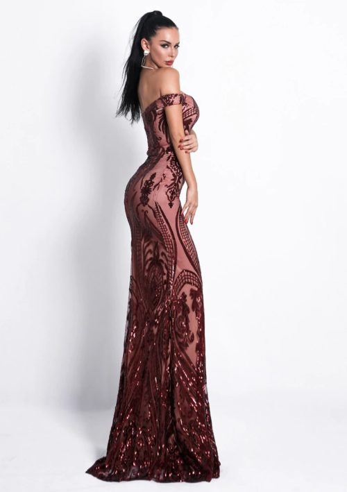 amber sequin gown 5