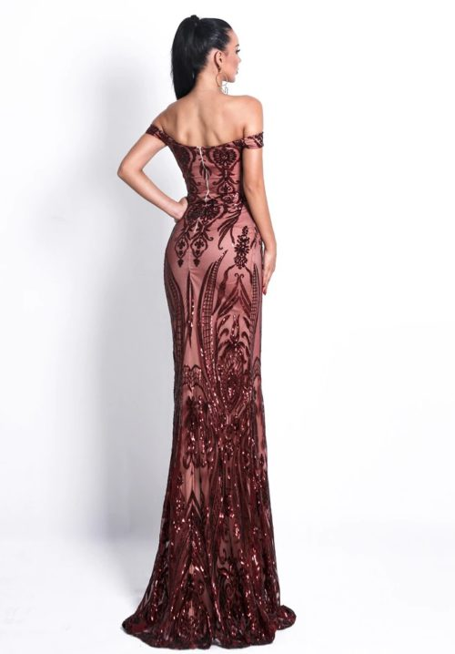 amber sequin gown 6