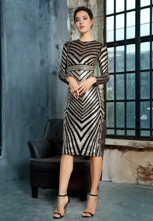 chelsea geometric sequin dress 3