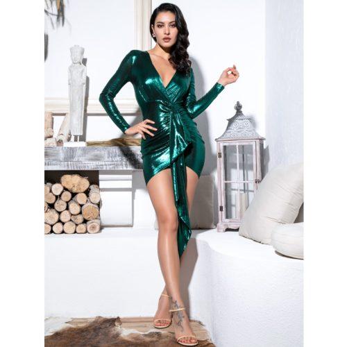 Trisha Green Mini Dress 3