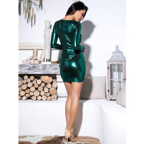 Trisha Green Mini Dress 5