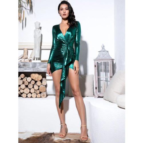Trisha Green Mini Dress