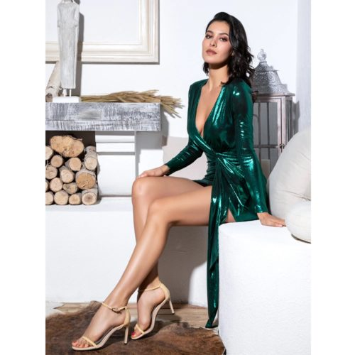 Trisha Green Mini dress 2