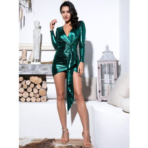 Trisha Green Mini dress 4